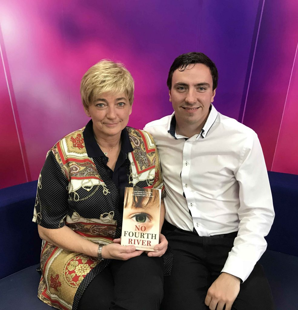 That's TV Manchester Christine Clayfield author of No Fourth River